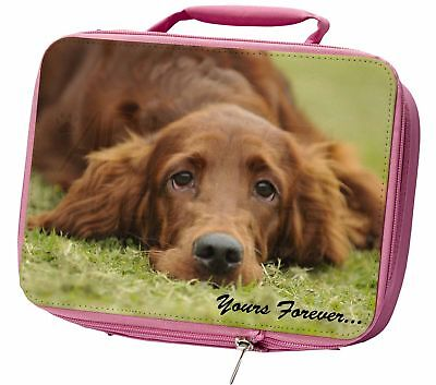 Red Setter Dog 'Yours Forever' Insulated Pink Lunch Box, AD-RS2yLBP