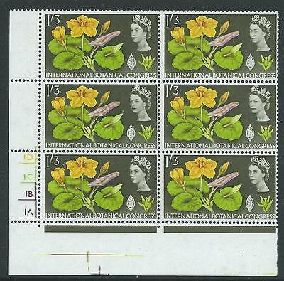 1964 GEOGRAPHICAL 1/3d (ORDINARY) CYLINDER BLOCK OF 6 SUPERB U/M
