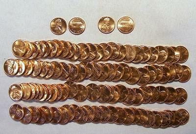 Lot Of 2 UNCIRCULATED Rolls 1987-P & 1987-D Lincoln Memorial Cents 100 Coins!!