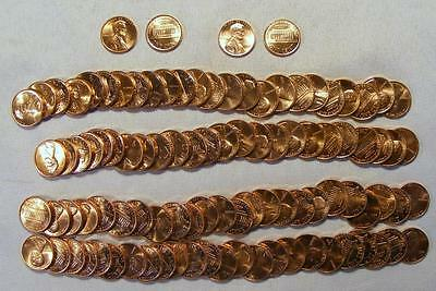 Lot Of 2 UNCIRCULATED Rolls 1988-P & 1988-D Lincoln Memorial Cents 100 Coins!!