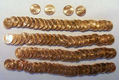 Lot Of 2 UNCIRCULATED Rolls 1993-P & 1993-D Lincoln Memorial Cents 100 Coins!!