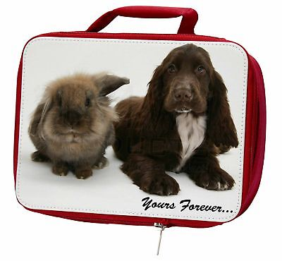 Animals 'Yours Forever' Sentiment Insulated Red Lunch Box, AD-SC2yLBR