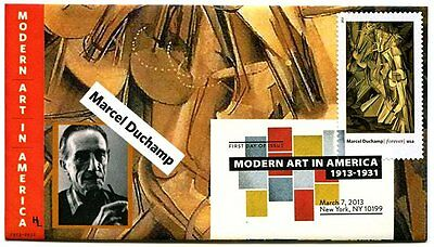 Modern Art in America Marcel Duchamp  First Day Cover with Color Cancel
