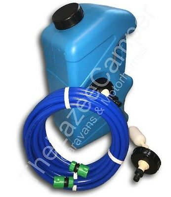 CARAVAN MAINS WATER ADAPTER KIT & Container and non toxic hosepipe
