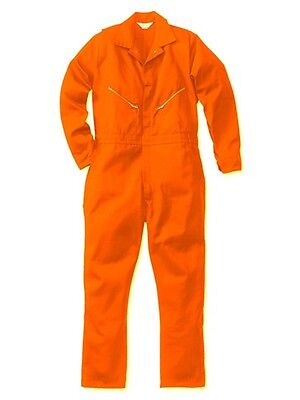 Walls Men's Work Coveralls Long Sleeve 100% Cotton Orange Master Made
