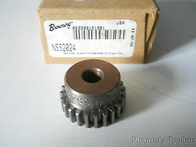 "New Browning 24-Tooth 20-Pitch Spur Gear with 3/8"" Bore, NSS2024"