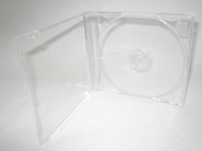 200 Standard 10.4mm Single CD Jewel Cases with Clear Tray KC04PK