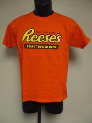 New Reeses Milk Chocolate Peanut Butter Cups Youth Size M Medium 10/12 Shirt