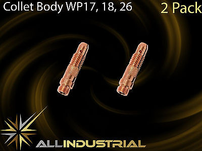 Tig Torch Collet Body - WP17 WP18 WP26 - 1.6mm 10N31 (2Pack)
