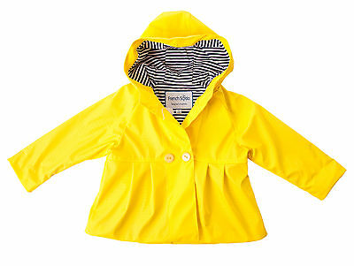 New Frankie Kids 100% Waterproof Raincoat Girls Yellow