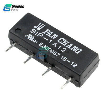 10PCS 12V Relay SIP-1A12 Reed Switch Relay 4PIN for PAN CHANG Relay S