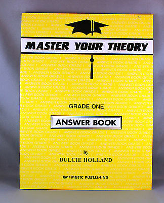 Master Your Theory Grade One Answer Book by Dulcie Holland - Brand New