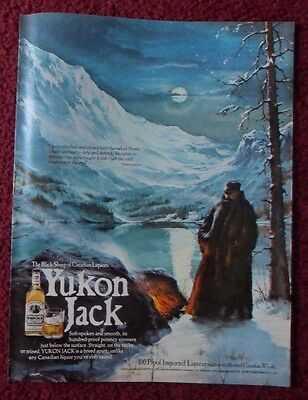 1978 Print Ad Yukon Jack Blended Canadian Whisky ~ Black Sheep of Liquors ART