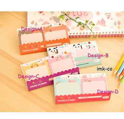 "Cute ""Design D"" Twins Pack Sticky Memo/ Sticker/ Post it Notes/ Pad"