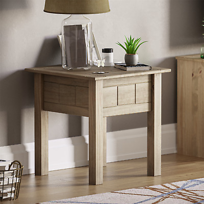 Panama Lamp Table Solid Pine Living Room Side End Natural Waxed Oak Furniture