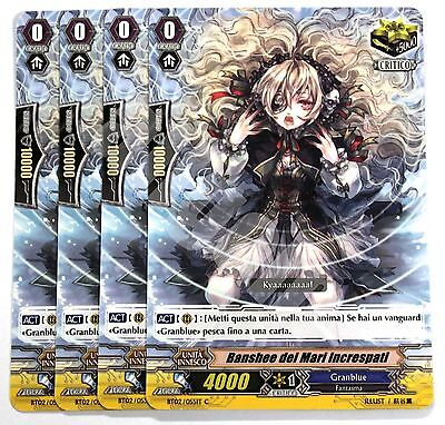 BT02/055IT-C 4x BANSHEE DEI MARI INCRESPATI Comune Cardfight Vanguard CFV