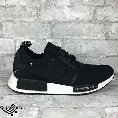 new arrival cbe4e fcd47 ADIDAS NMD R1 Pk Black White Japan S81847 Primeknit Nomad Knit Boost 4-13