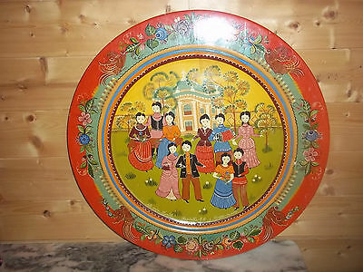 Gorodets Painting In Wood 55 Cm Russian Folk Art Hand Painted Signed