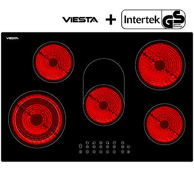 Glass Ceramic Cooking Kitchen Hob with 5 cooking zones and 9 levels per hob