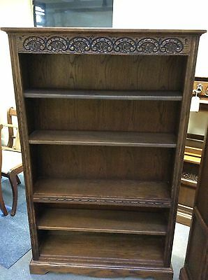 Old Charm Jacobean Hatfield Oak Bookcase