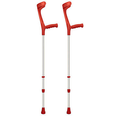 Adjustable Coloured Crutches - RED