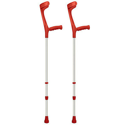 Coloured Elbow Crutches - Red