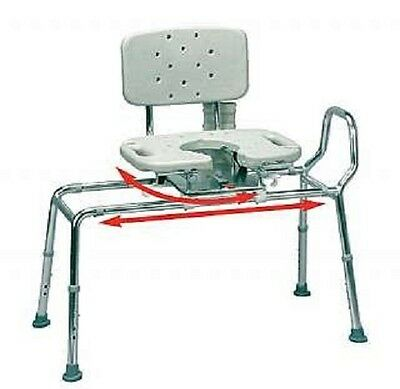 Eagle Health Transfer Bench Cut-Out Molded Swivel Seat/Back - Regular 37663
