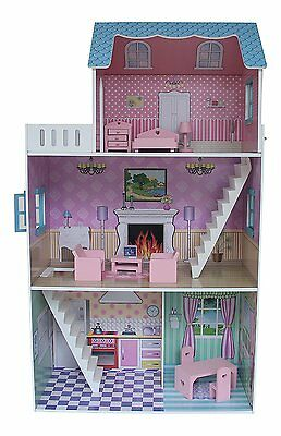 """""""Townhouse"""" Dollhouse with Furniture"""