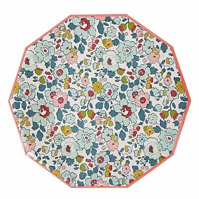 Liberty Betsy Large Floral Paper Plates x 12 Wedding Party Tableware