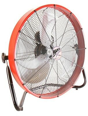 20 In. Floor Shroud Fan Industrial Warehouse Garage Air Mover Circulation
