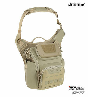 Maxpedition Advanced Gear Research (AGR) WOLFSPUR™ Crossbody Shoulder Bag - Tan
