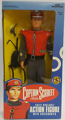 """Captain Scarlet : 12"""" Captain Scarlet Action Figure Made In 1993 (F)"""
