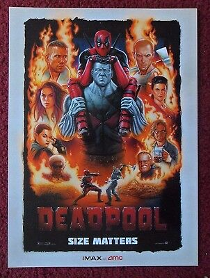 Mini Movie Poster DEADPOOL AMC IMAX Exclusive ~ Ryan Reynolds Marvel Comics