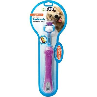 Toothbrush for Dogs & Pet - Large Breeds - Gentle nylon bristles !