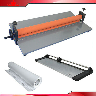 "39"" Cold Laminator +33"" Rotary Paper Cutter Trimmer +Roll Laminating Film"