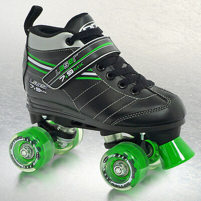 Roller Derby Laser 7.9 MX Speed Quad Skate Kids/Boys/Mens US3 to US8