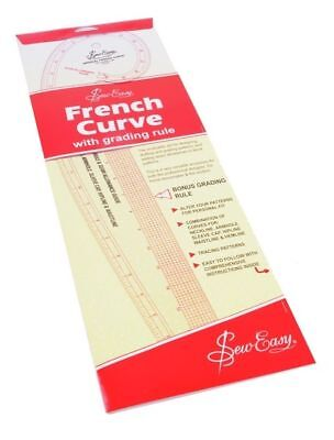 Sew Easy French Curve Imperial Measurements For Sewing Dressmaking Tailoring