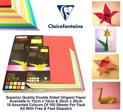 Origami Paper Double Sided Multi Colour Folding Craft Paper 80gsm 100 Sheet Pack