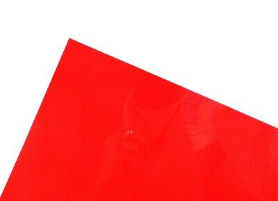 Red A3 Acetate Sheets Transparent Clear OHP Craft Plastic Film (100 Sheets)