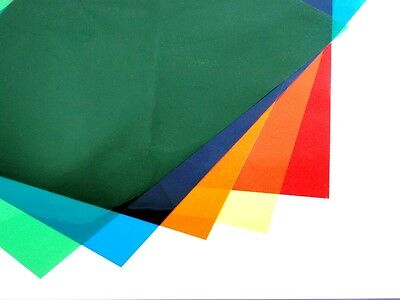 Coloured A3 Acetate Sheets Transparent Gel Clear OHP Craft Plastic Acetate Film