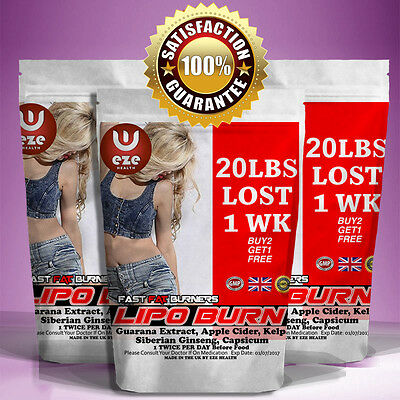 Fat Burners Weight Loss Pills Strong  Diet Slimming Buy 2 Get 1 Free Lose Fast