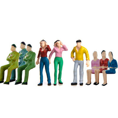Approx.50pcs Painted Model People Figures Layout Train Diorama 1:42 O Scale