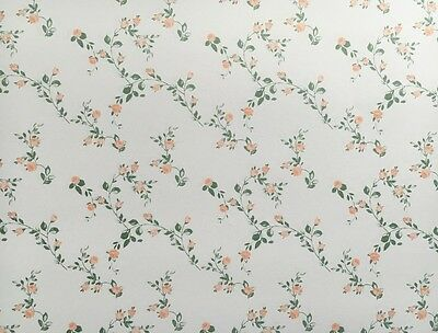 3 Sheets of Sissinghurst Wallpaper for a Dolls House, Miniature, Decorating Doll
