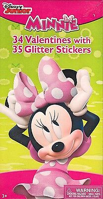Disney Minnie Mouse Valentine Cards 34ct Valentines Party Favors Supplies