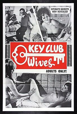 KEY CLUB WIVES * CineMasterpieces ORIGINAL MOVIE POSTER 1968 ADULT X RATED PORN