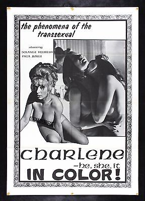 CHARLENE * CineMasterpieces ORIGINAL MOVIE POSTER 1960S ADULT X RATED PORN TRANS