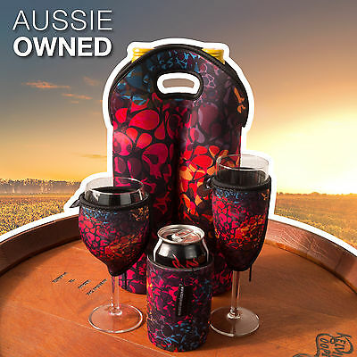 Neoprene Cooler Set - Wine, Champagne, Can and Bottle Cooler | Floral Design