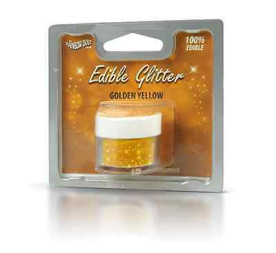 Golden Yellow - 100% Edible Glitter - Rainbow Dust - Cake Decorating
