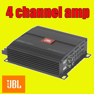 Jbl Car Amp Amplifer 4 Four Multi Channel 560W Max Power, Built In Crossovers