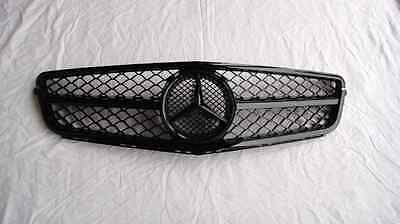 Mercedes-Benz W204 C-Class C63 AMG Style Facelift Front Grille Gloss Black 2011-
